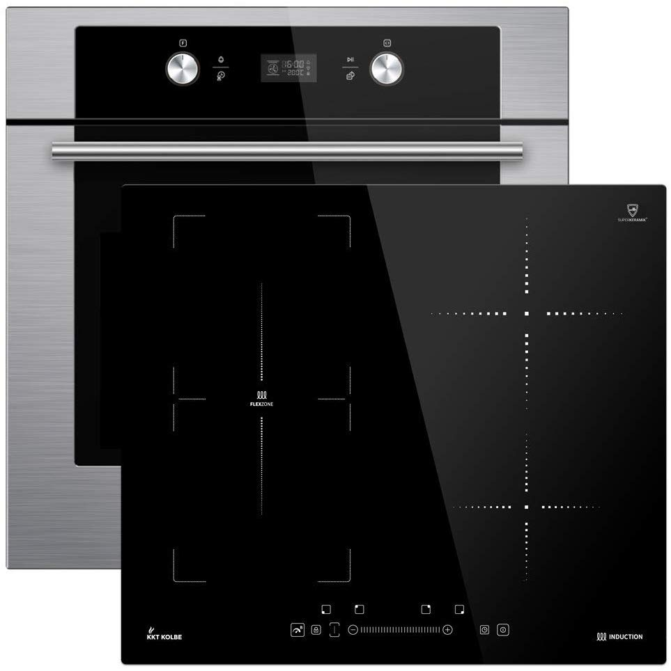 KKT Kolbe EB8012EDP : four pyrolyse avec Power Air Chaud et plaque induction